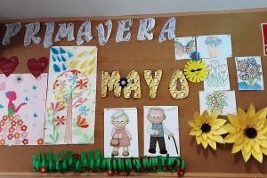 Mayo flores y sol